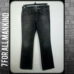 7 for all mankind boot cut black wash jeans
